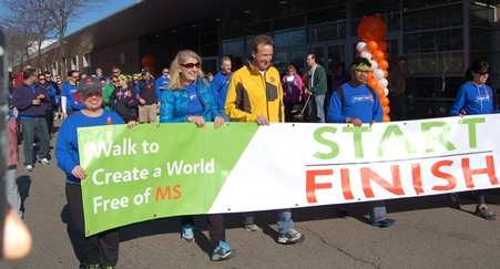 2014 Walk MS Boston start