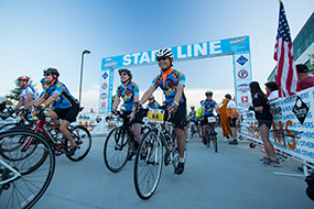 riders at the start line