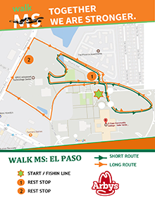 Walk MS: El Paso 2018: Routes & Maps - National MS Society