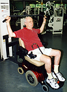 Photo of George exercising