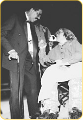 Richard Pryor, left, greets Ellen Butler, who has MS, of Malverne, NY