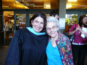 Me with my grandma at my graduation in June of 2008.