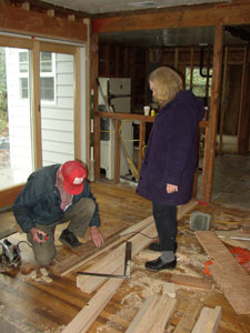 My grandpa and my mom building my house in 2006