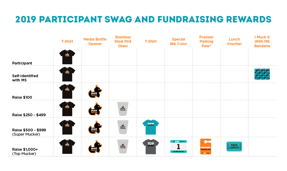 Registration Swag and Individual Fundraising Rewards