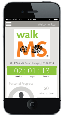 Walk MS Mobile App